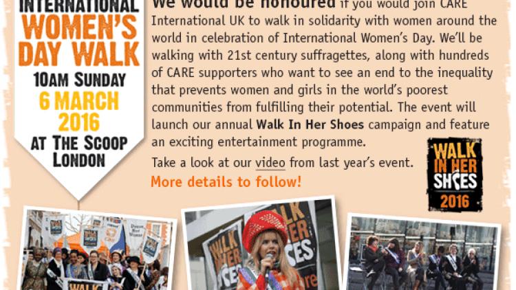 International Women's Day Walk – CARE International UK