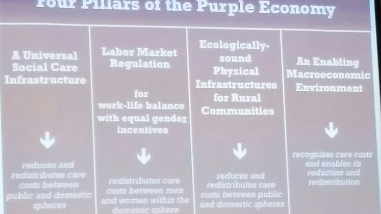 From the Green Economy to the Purple Economy. Towards a new economic world order that places women front and centre.
